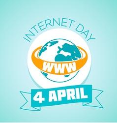 4 April Internet day vector image