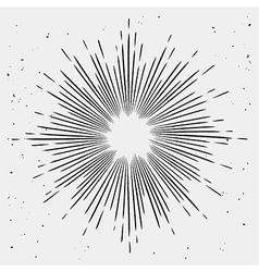 Vintage monochrome starburst vector