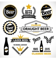 Beer Labels vector image