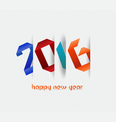 Happy new year 2016 banner origami calendar cover vector