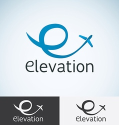 Letter e logo concept template for start up flight vector