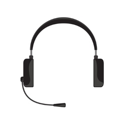 Black headphones with vector
