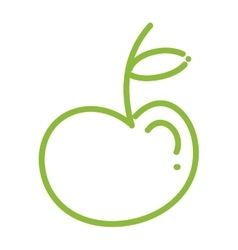 Apple icon organic and healyhy food design vector