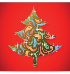 Art decorative Christmas vector image vector image