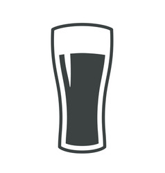beer glass icon iweb sign symbol logo label vector image vector image