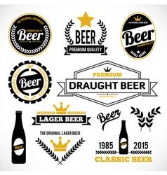 Beer Labels vector image