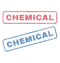 Chemical textile stamps vector
