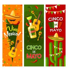 Cinco de mayo mexican fiesta party greeting banner vector