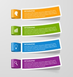 Colorful sticker banners infographic concept vector