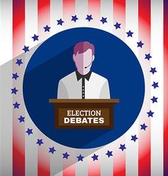 Election debates flyer vector