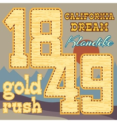 gold rush design vector image vector image