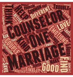How To Find A Good Marriage Counselor And Save vector image vector image