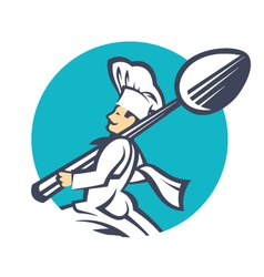 icon with chef vector image vector image