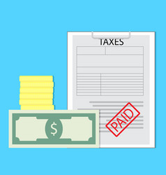 paid taxes vector image