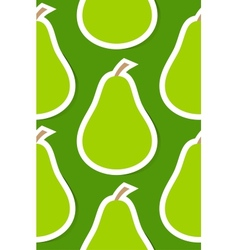 Seamless background with pear vector image