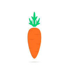 simple carrot logo with shadow vector image vector image
