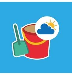 Summer vacation design shovel bucket toy vector