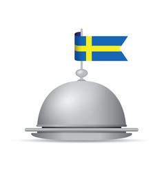 sweden flag dinner platter vector image