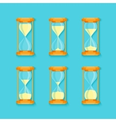 Transparent Sandglass Set vector image