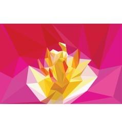 triangular flower vector image vector image