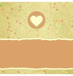 Valentines Hearts Card vector image vector image