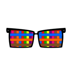 Vintage colored glasses for eyes vector