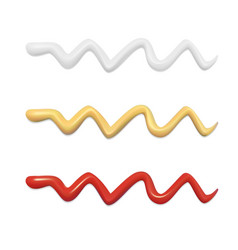wavy stripes of different sauces set vector image