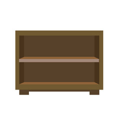 Wooden bedside chest vector