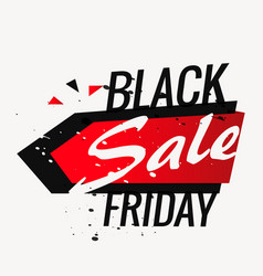 Black friday sale background poster in grunge vector