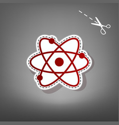 atom sign   red icon with for vector image