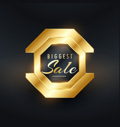 biggest sale premium golden badge and label design vector image