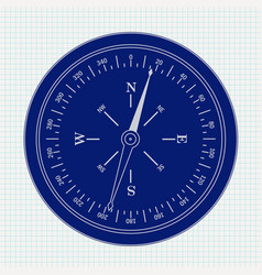 Compass icon on notebook shee vector