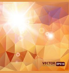 Retro triangle background with sunburst flare vector