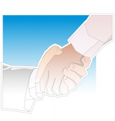Handshake outline vector