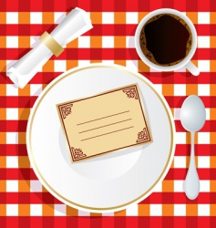 Invitation to lunch vector