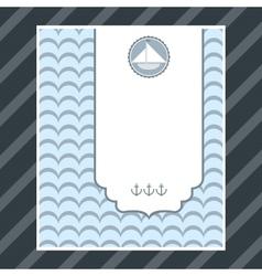 Boy birthday card vector