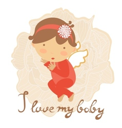 Cute baby card vector