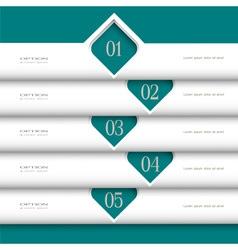 3d modern white Design template vector image vector image