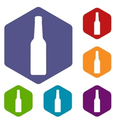 Bottle rhombus icons vector