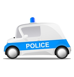 Cartoon police car vector