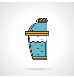 Shaker bottle flat design icon vector