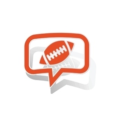 Rugby message sticker orange vector
