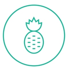 Pineapple line icon vector