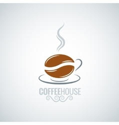 coffee cup bean design background vector image