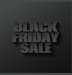 black friday logo lettering design black vector image vector image