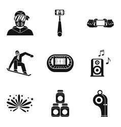 blogger icons set simple style vector image