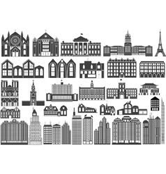 building fronts vector image