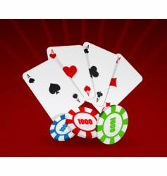 cards and chips vector image vector image