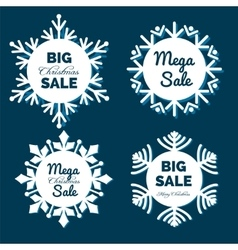 Christmas snowflakes sale banners vector image vector image