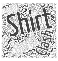 Clash t shirt word cloud concept vector